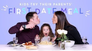Kids Try Their Parents' First Date Meal | Kids Try | HiHo Kids