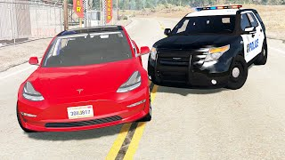 American Police Chases #4 - BeamNG drive