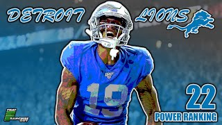 A Deep Dive Into The 2020 Detroit Lions | Power Ranking: 22