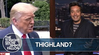 Trump Mispronounces Thailand, Backs NRA | The Tonight Show