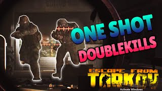 *LUCKY* ONE-SHOT DOUBLEKILLS  !! - Escape From Tarkov Funny Fails and Best Moments! #16