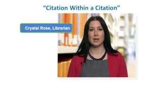 How to Reference a Citation Within a Citation in APA Style