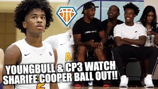 YOUNG BULL & CP3 WATCH SHARIFE COOPER BALL OUT!! | AOT Advances to Peach Jam Bracket Play