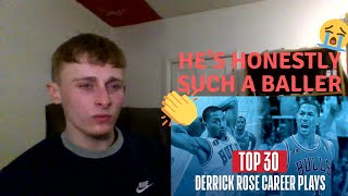 British Soccer fan reacts to Basketball - Derrick Rose's UNREAL Top 30 Plays!