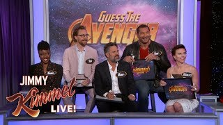 The Cast of Infinity War Plays 'Guess the Avenger'