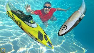 Experiment: RC Boats Underwater! Will It Drive