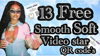 13 Free Soft Smooth video star QR code's💗