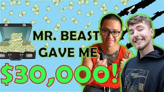 MRBEAST DONATED $30,000 TO ME! (Reaction Video)