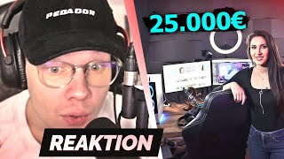 25.000€ Gaming Setup von Gnu 😲 | Reaktion