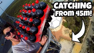 CATCHING 25 COCA-COLA BOTTLES from 45m!