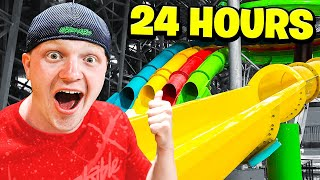 24 HOUR OVERNIGHT WATERPARK CHALLENGE!