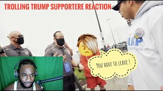 REACTION - Trolling Trump Supporters at a Trump Rally! (KICKED OUT)