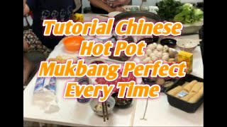 Mukbang Chinese Food// How To Make Hot Pot at Home:Hot Pot Recipe & Ingredients:Easy Dinner